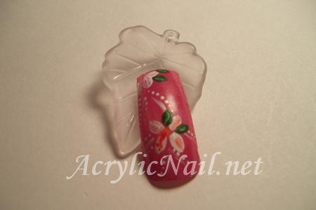 Dark Pink Acrylic Nail Design